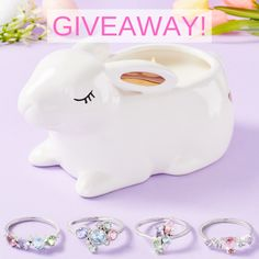 Charmed Aroma Giveaway: Win Cotton Tail Bunny Candle from Pastel Ring Collection Candle Rings, Beautiful Candles, Piggy Bank, Giveaway, Bunny, Pastel, Charmed, Cotton, Collection