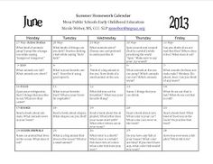 Free March Homework Calendar For Language A Great Calendar To Send