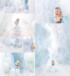 Loon mountain Ice Castle photo shoot, frozen inspired photo shoot, snowy portrait session, feather skirt, natural light photography, winter children's portraits © Dimery Photography 2014