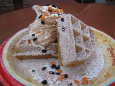Spiced pumpkin waffle sundae at Sleepy Hollow Refreshments. Special food for Mickey's Not-So-Scary Halloween Party