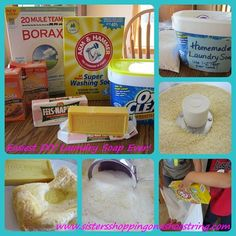 Easiest Make-your-own laundry detergent recipe from www.sistersshoppingonashoestring.com