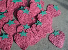 Recycled & Plantable Strawberry Favors by Paperdandelions1 on Etsy, $0.95
