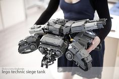 my lego design of star craft 2 siege tank. took one year to design and build