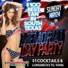 Last minute Memorial Day graphic for Cactus Canyon ‪#‎nightclub‬ in Victoria...