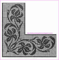 This Pin was discovered by Nil Filet Crochet Charts, Crochet Borders, Crochet Cross, Crochet Patterns, Crochet Curtains, Crochet Doilies, Crochet Lace, Cross Stitch Borders, Cross Stitch Designs