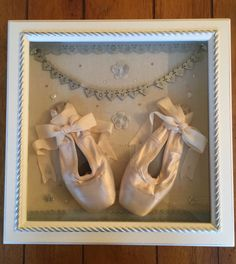 First Point Shoe Keepsake lovely deep box frame great way to treasure your memories #balletdancer