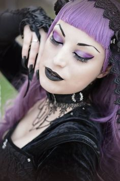 Model, MUA: Kali Noir DiamondPhotography: Vanic PhotographyWig: Black Candy FashionNecklace: Gothic Doll accessorizeDress and Veil: Sinister from The Gothic Shop Welcome to Gothic and Amazing |www.gothicandamazing.org