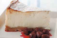 American baked cheesecake