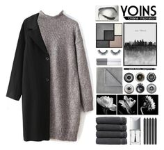 """""""Greyscale ~ Yoins 3"""" by hevsyblue2 ❤ liked on Polyvore featuring Yves Saint Laurent, Linum Home Textiles, Trademark Fine Art, Vellux, Tom Dixon, Christian Dior, NYX, Ralph Lauren Home, Ella Doran and women's clothing"""