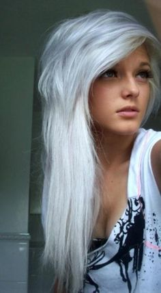 silver dyed hair. how i'm gonna go gray some day far, far, in the future...