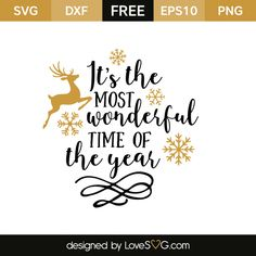 *** FREE SVG CUT FILE for Cricut, Silhouette and more ***  It's the most wonderful time of the year