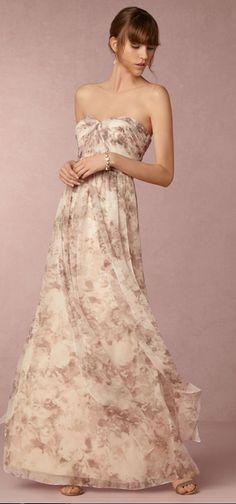 Nyla Dress in Bridesmaids Bridesmaid Dresses Convertible at BHLDN Printed Bridesmaid Dresses, Bridesmaid Gowns, Strapless Dress Formal, Formal Dresses, Formal Wear, Party Dresses, Reception Dresses, Chiffon Dresses, Occasion Dresses