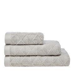 Home Collection Grey geometric towel | Debenhams