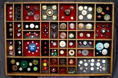 """Vintage buttons - What a pity they included that horrid """"Make my day"""" badge!!"""