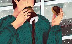 NUVO Magazine Winter Illustrations on Behance
