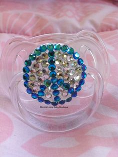 Peace Sign Baby Bling Pacifier by MimiandLolas on Etsy