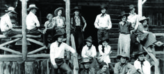 """An old photo taken at the """"The 63"""" Historic Dude Ranch near the Yellowstone River   American Cowboy"""