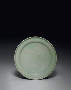 An incised Korean celadon footed dish, Goryeo dynasty, century - Alain. Korean Art, Garden Pots, Dishes, Garden Planters, Garden Container, Korean Style, Tablewares, Flatware, Tableware