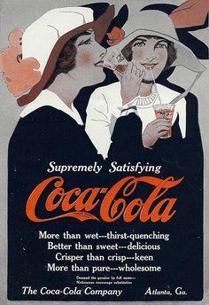 Coca-cola ad old, year 1914