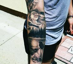 Forearm Nature Tattoos For Men