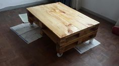 Pallet Coffee Table. Just finished.