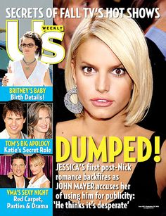 Jessica Simpson on the September 18, 2006 cover of 'Us Weekly' magazine
