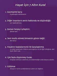 Hayat için 7 Altın Kural