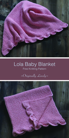 Free Knitting Pattern | Lola Baby Blanket | Originally Lovely