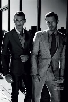 Make Model - Paul Sculfor and Christopher Folz for GQ Style Russia