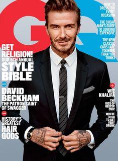 David Beckham, el jugador de fútbol convertido en ícono de la moda con el alcance de una estrella de rock, protagoniza el número de abril de la revista GQ