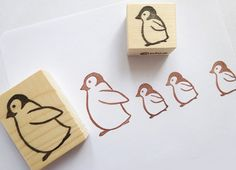 Rubber stamps Penguin stamps Animal rubber by JapaneseRubberStamps