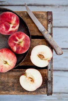Simple foods - fresh white peaches
