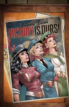 """Wonder Woman Supergirl and Mera"" - Justice League - Bombshells variant cover by Emanuela Lupacchino - Visit to grab an amazing super hero shirt now on s Arte Dc Comics, Dc Comics Art, Marvel Comics, Cosmic Comics, Comics Girls, Marvel Dc, Comic Book Characters, Comic Character, Comic Books Art"