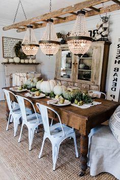 Tischdeko Herbst Ideen im skandinavischen Stil