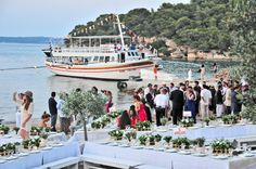 Wedding party by the sea, organised and decorated by MELI Parties...Do it the Greek way!