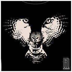 Do you see the owl and the wolf?