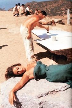 Elizabeth Taylor on the set of 'Suddenly, Last Summer', 1959.
