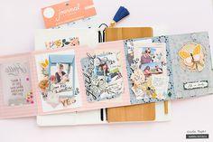 Mini Albums, Mini Scrapbook Albums, Scrapbook Paper Crafts, Birthday Scrapbook, Project Life, Mini Album Tutorial, Mini Books, Scrap Books, Crate Paper