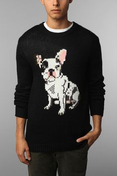 PJ By Peter Jensen French Bulldog Sweater  #UrbanOutfitters