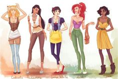 If Disney princesses wore regular clothes