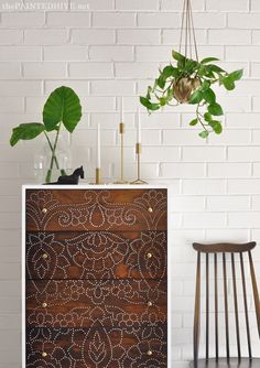 DIY Dresser with Perforated Detail