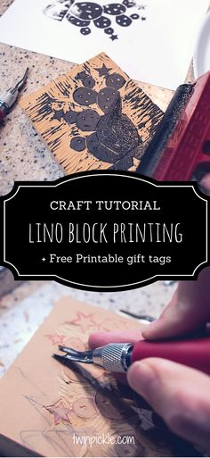 It's really easy to get started with lino printing. The result is a super crafty handmade finish, perfect for fabrics, wrapping paper, cards etc. Get your craft on! #craft #printing #diy #handmade #handmadewithlove