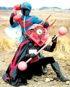 Telephone Mask (電話仮面) from 'Himitsu Sentai Gorenger'