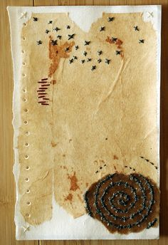 Page Torn From The Notebooks of Unknown Origins by Patti Roberts-Pizzuto (Missouri Bend Studio, via Flickr)
