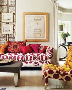Whoa! Interesting mix of patterns! Check out the two patterns on the chair!