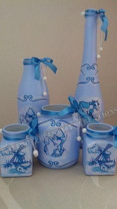Set blauw holland