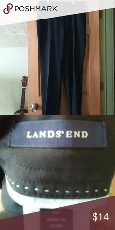 Land's end boot cut slacks Black boot cut slacks with front and back pockets. New without tags. Lands' End Pants Wide Leg