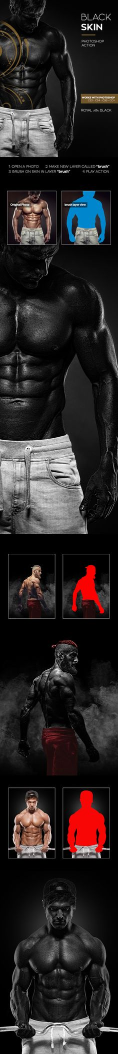 Black Skin Photoshop Action - Photo Effects Actions