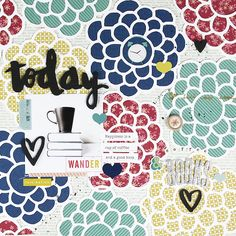 weekly challenge: scrapbook about a favourite book // scrapbook page by Gina Lideros