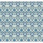 Waverly Small Prints Santa Maria Wallpaper, White/Marine Blue/Blue/Aquamarine/Medium Blue/Pale Blue